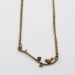 Bird and branch ketting