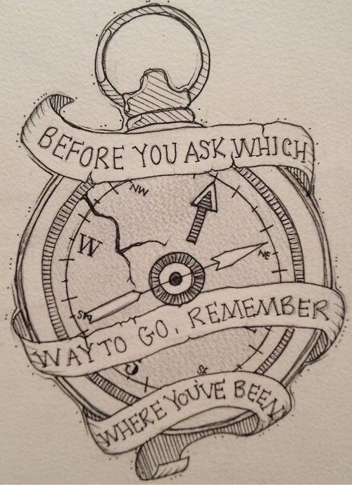 Antes que você pergunte para onde ir , lembre-se onde você esteve