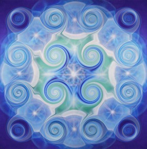 Bluegreen Cosmic Web #LifeForceEnergyAbrahamHicks