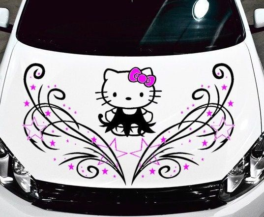 Graphics For Hello Kitty Custom Vinyl Car Graphics Www - Hello kitty custom vinyl decals for car