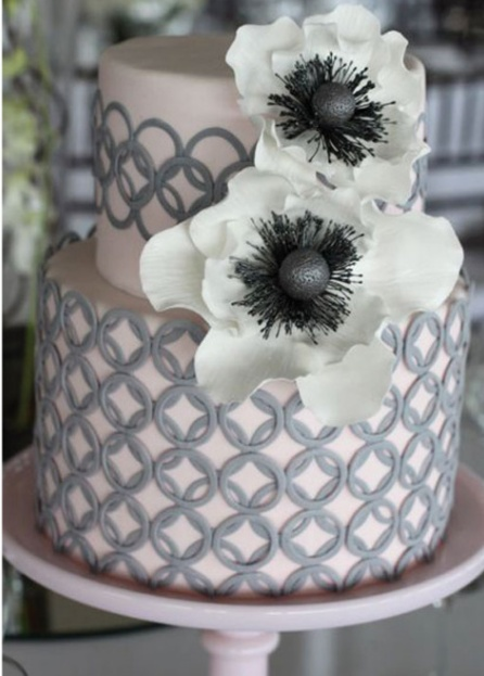 Our color inspirations for the wedding is a soft blush pink matched with a silver or charcoal gray