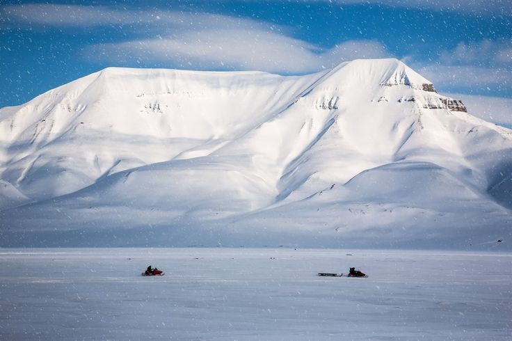 Snowmobiling at the Arctic, North Pole