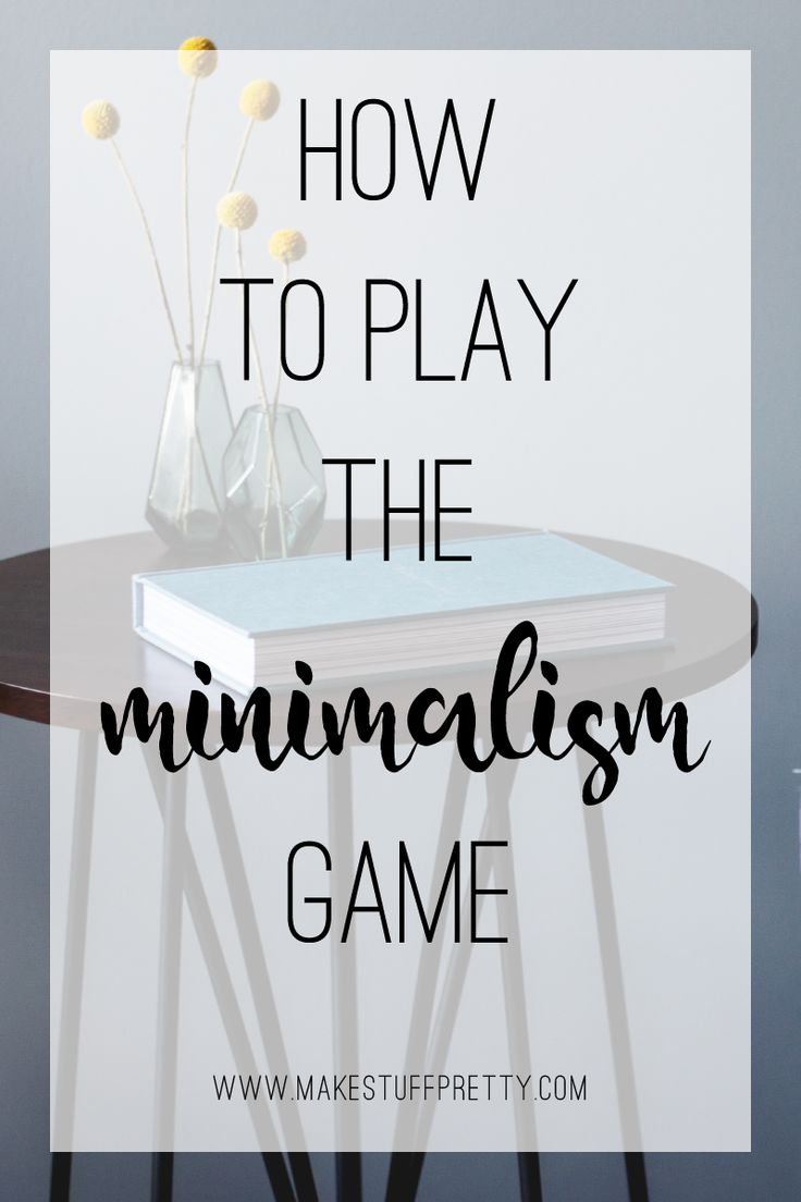 If you're unsure where to start on your minimalist journey, a great way to dip your toes in the water is the minimalism game. Here's how to play.