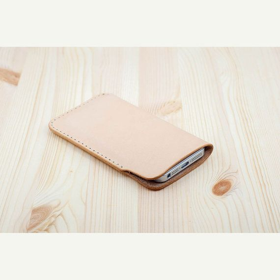 Natural leather iPhone sleeve. best iphone cases by DHKgoods, $38.00