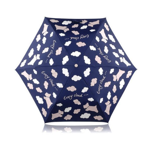 Radley Women's Every Cloud Umbrella (€31) ❤ liked on Polyvore featuring accessories, umbrellas, dog umbrella, radley umbrella, navy blue umbrella, dog print umbrella and navy umbrella