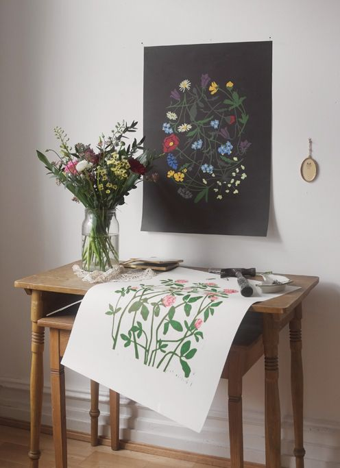 Flowery posters