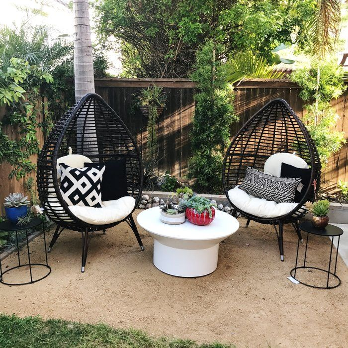 Surprising Teardrop Patio Chair With Cushions In 2019 Outdoor Living Ocoug Best Dining Table And Chair Ideas Images Ocougorg