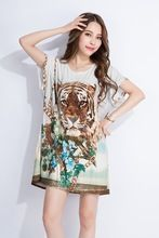2015 new designed sexy fashion tiger printed t shirt  Best buy follow this link http://shopingayo.space