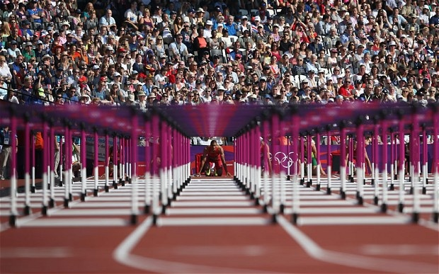 Ashton Eaton of the United States competes during the men's decathlon 110m hurdles heats - Picture: Streeter Lecka/Getty Images