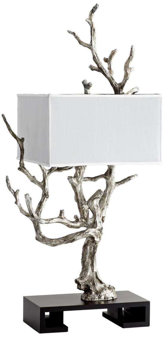 Mesquite Mystic Silver Contemporary Tree Table Lamp   LOVE This One