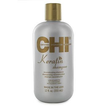$15 CHI Keratin Shampoo gently cleanses and reconstructs damaged hair by replenishing natural keratin levels.