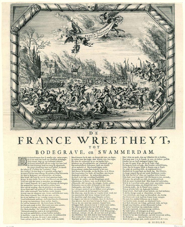 Franse wreedheden in Bodegraven en Zwammerdam, 1672, Romeyn de Hooghe, 1673