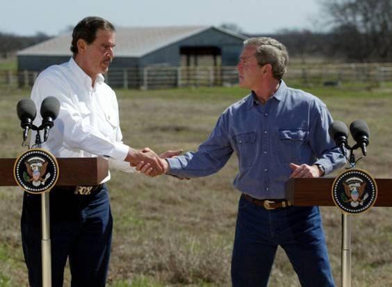 Es el presidente de México que más se ha pronunciado por lograr un acuerdo migratorio entre Estados Unidos y México, convirtiendo este tema durante su sexenio como eje principal en sus encuentros con el Presidente de Estados Unidos George W. Bush.