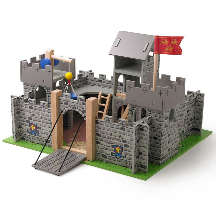 Wooden Play Castle - This wooden, toy castle offers lots of inspirational play for the knights of your realm!  Populate it with a set or two of Knights, and if you want to add an extra dimension to battles have look at the matching Siege Tower!
