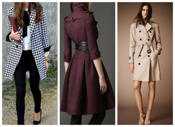 Find your own sense of style >>> http://bit.ly/1ENKONX Burberry trench coat, black & white coat, purple coat. Winter outfit.