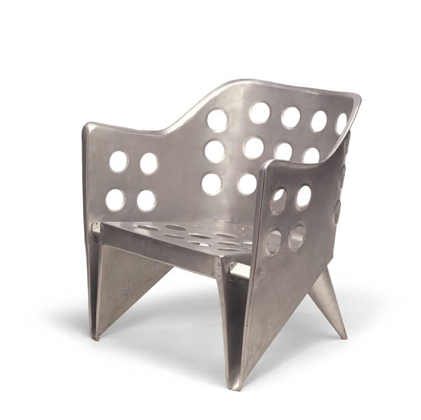 Aluminum chair by Gerrit Rietveld