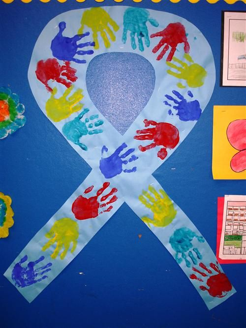 autism awareness month is april this would be great to do with our class and hang it in the hall