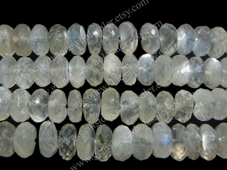 Sillimanite Faceted Roundel (Quality AA) / 6.50 to 7.50 mm / 23 to 25 Grms / 36 cm / SI-004 by GemstoneWholesaler on Etsy