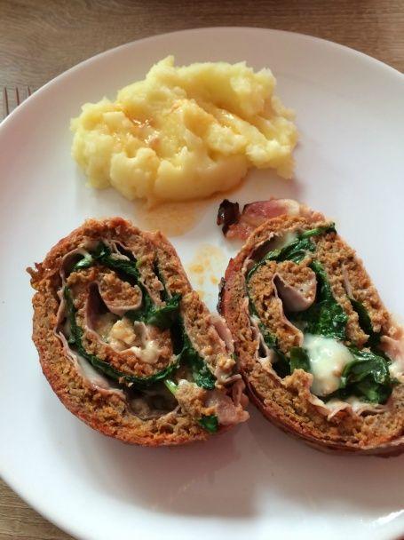 Roláda z mletého mäsa so špenátom (fotorecept) - obrázok 5