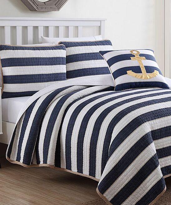 Blue & White Hampton Quilt Set