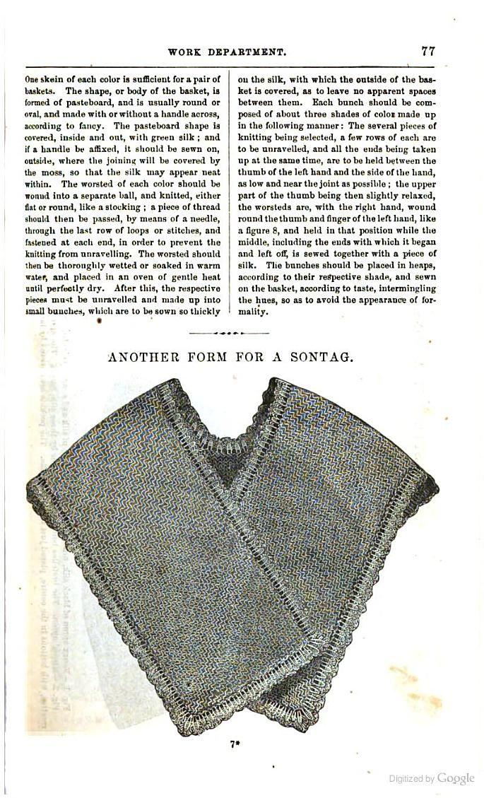Sontag Godey's Magazine vol 64 civil war era fashion