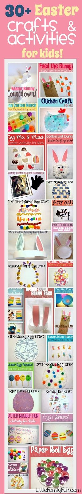 Lots of FUN ideas for kids! Simple crafts and activities for Easter.