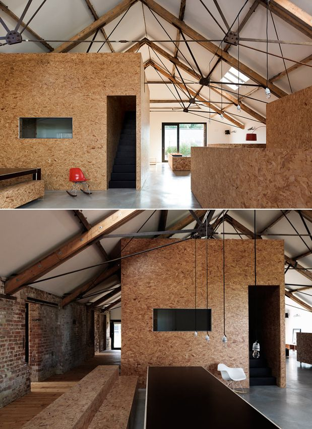 Chipboard Interiors Ochre Barn by Carl Turner Architects