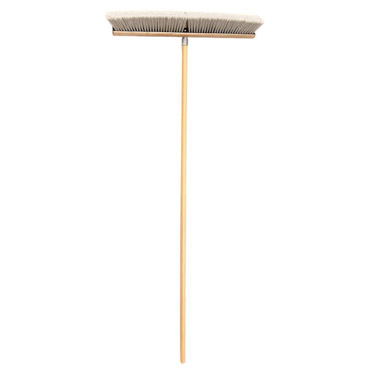 "Jensen Laitner Brush Company 239 18"" Push Broom With 60"" Handle"