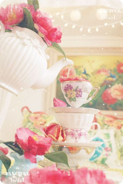 Tea and roses.