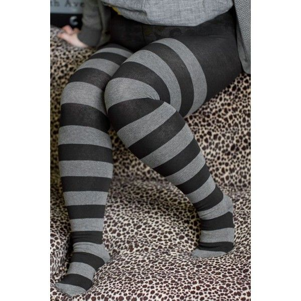 Rugby Striped Tights ❤ liked on Polyvore featuring intimates, hosiery, tights, striped pantyhose, opaque stockings, stripe tights, striped stockings and opaque tights