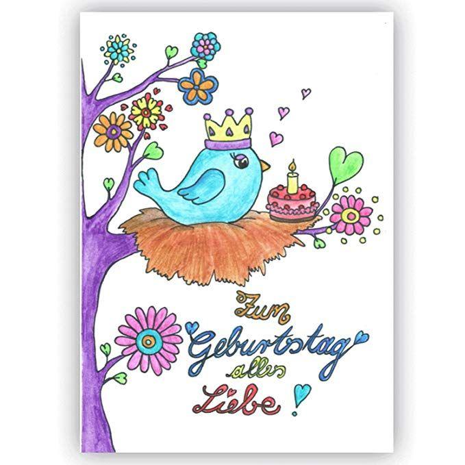 Geburtstagskarte Zum Geburtstag Alles Liebe Vogelchen Baby 1