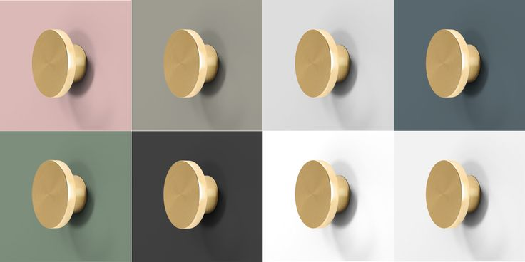 Colour palette for A.S.Helsingö doors. Brass Parasol handles. Personalize & customize.