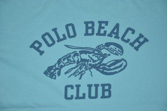Vintage 90s Polo Sport Ralph Lauren Crab Polo Beach Club T-Shirt