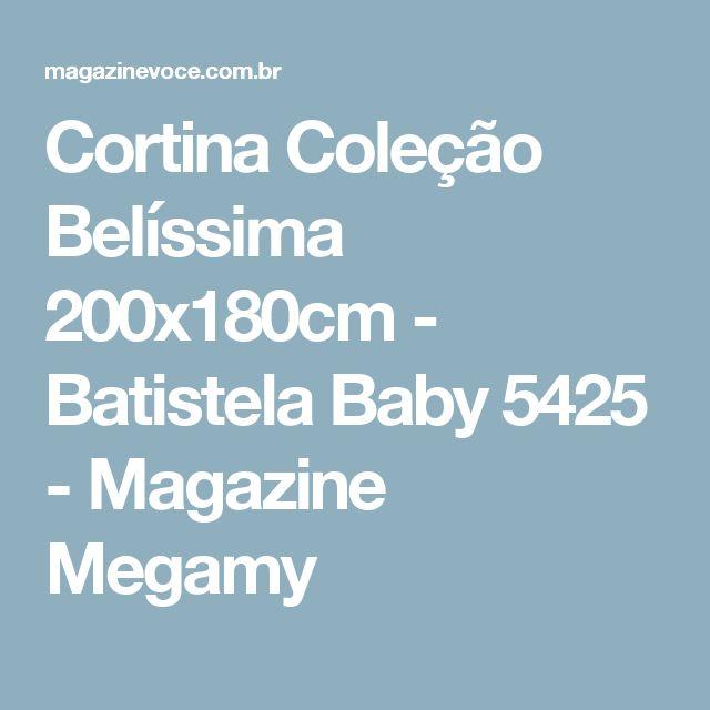 Cortina Coleção Belíssima 200x180cm - Batistela Baby 5425 - Magazine Megamy