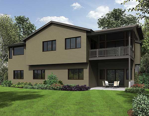 Plan 23622jd 4 Bed Modern House Plan For The Sloping Lot