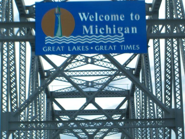 Port Huron, MI : Crossing the Blue Water Bridge from Sarnia, Ontario to Port Huron, Michigan.