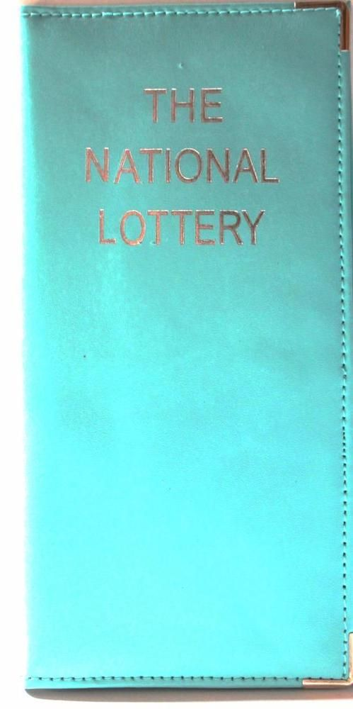 Real leather Lottery Lotto play slip & ticket holder turquoise brand new sealed