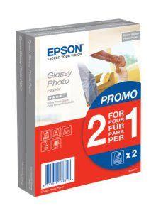 Epson Glossy Photo Paper BOGOF Papier photo brillant 100 x 150 mm 225 g/m2 50 feuille(s) promo (pack de 2 )