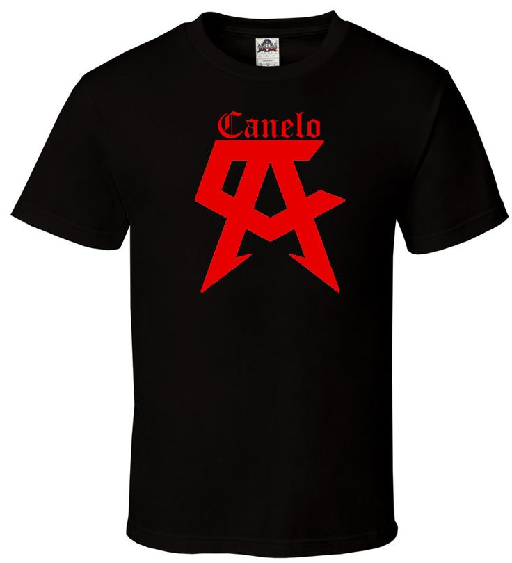 >> Click to Buy << CANELO - Black T Shirt Red Saul Alvarez Boxer Champ Team All Sizes S-2XL T-Shirt Fashiont Shirt Free Shipping Top Tee #Affiliate