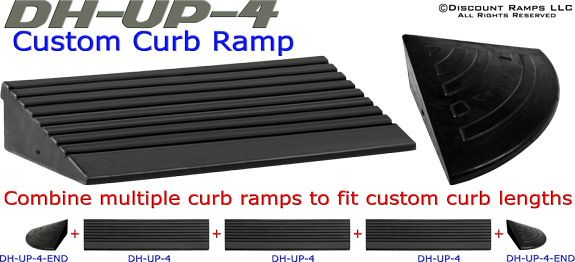 Custom Curb Ramp - Combine Multiple curb ramps to fit custom curb lengths