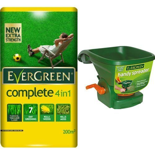 EverGreen Complete 4-in-1 Lawn Care Bag, 7 kg and Scotts Miracle-Gro EverGreen Handy Spreader Set
