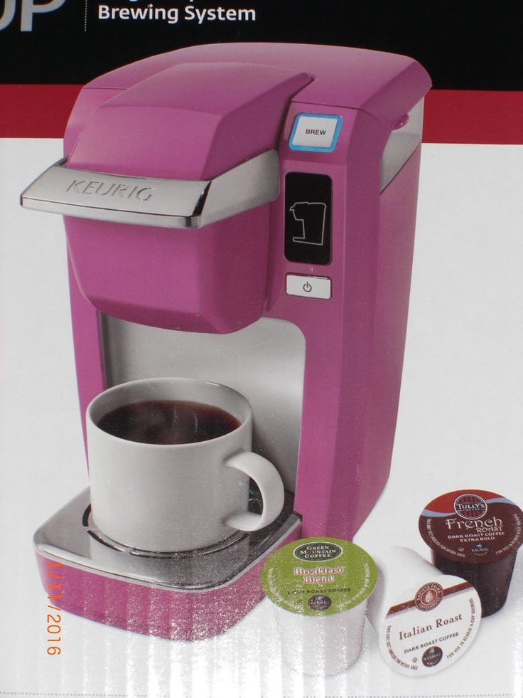 NEW Keurig K10 MINI Plus Personal Coffee Maker Machine PINK /ORCHID + K cups #Keurig gift ...