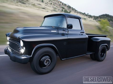 1957 Chevy Pickup Duramax - Diesel Power Magazine....wow so in love