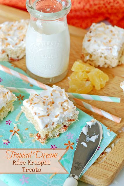 The Sweet Chick: Tropical Dream Rice Krispie Treats
