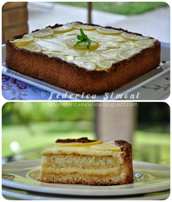 La cucina di Federica: Crostata tiramisù al limone