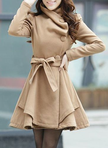 Classic Camel Belted Coat.