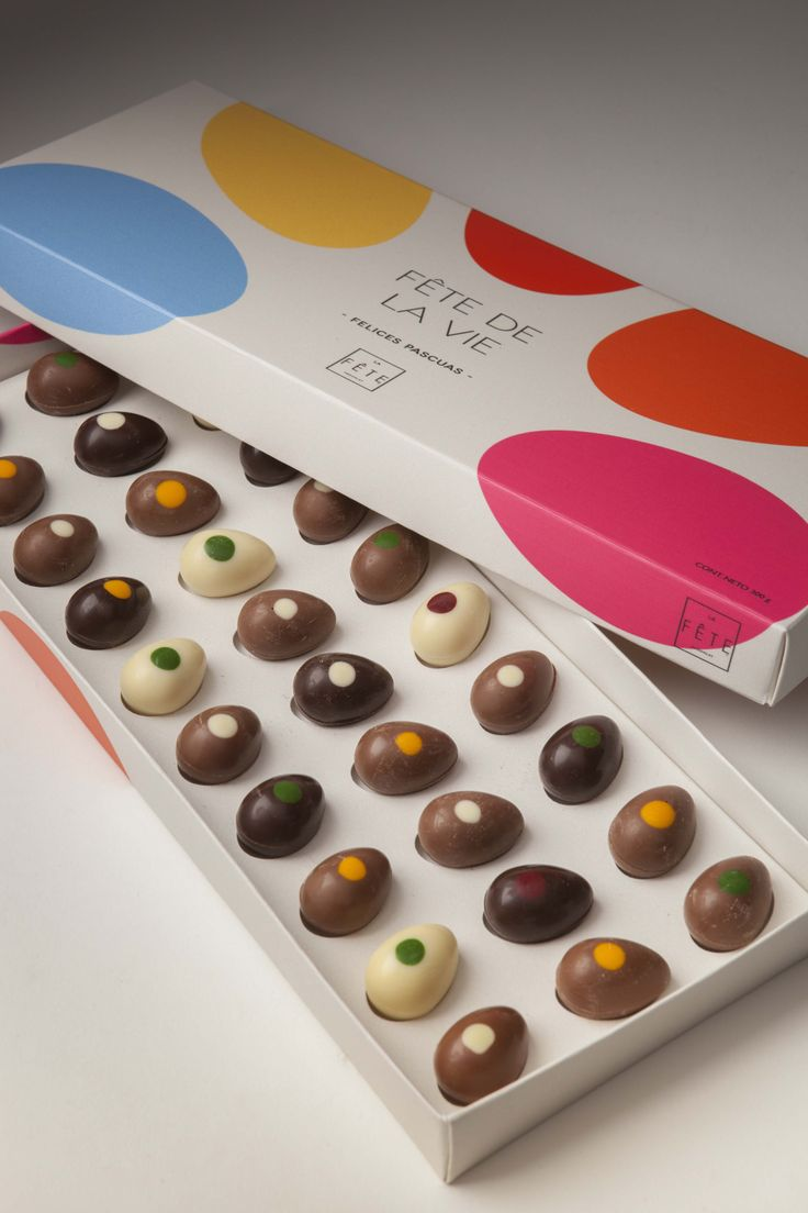 30 delicious Easter eggs in milk, dark and white chocolates. Enjoy with La Fête! #lafetechocolat