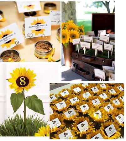 sunflower table arrangements - Google Search