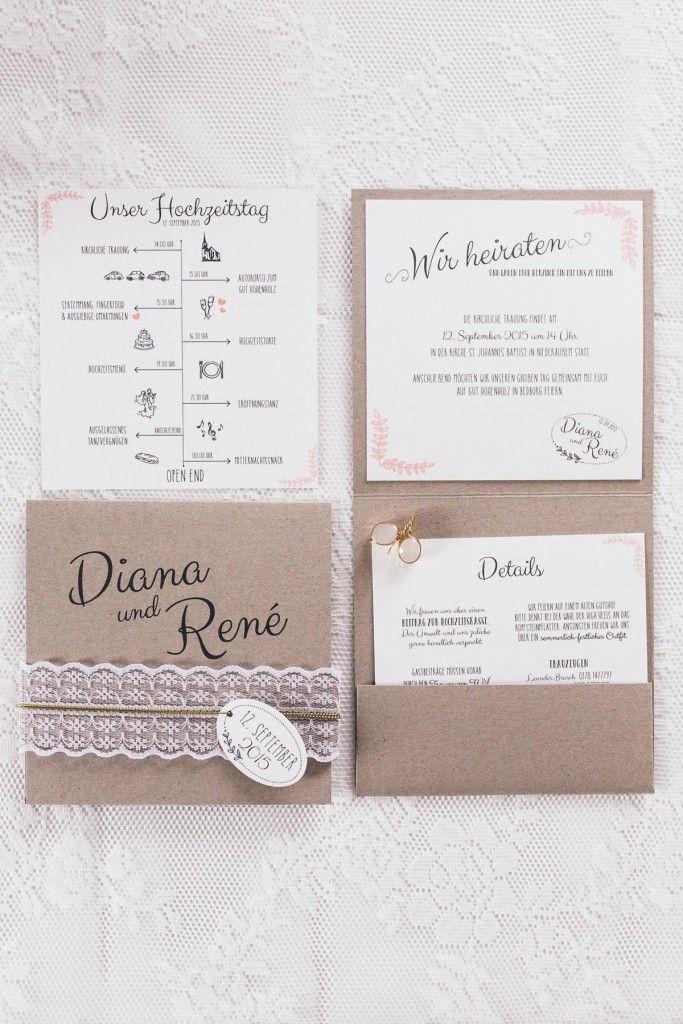 Individuell Schöne Hochzeitspapeterie Von Traufabrik Papeterie. Hochzeit  EinladungskartenEinladungen ...