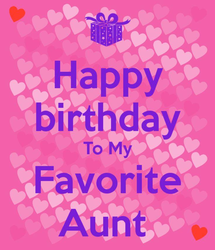Happy Birthday To My Favorite Aunt